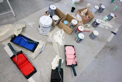 Fresque en cours de réalisation (photo : S. Lehu)